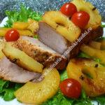 Свинина запеченная с ананасом