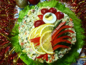Новогодний салат петух 2017 фото
