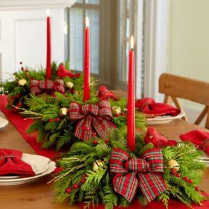 Сервировка рождественского стола фото