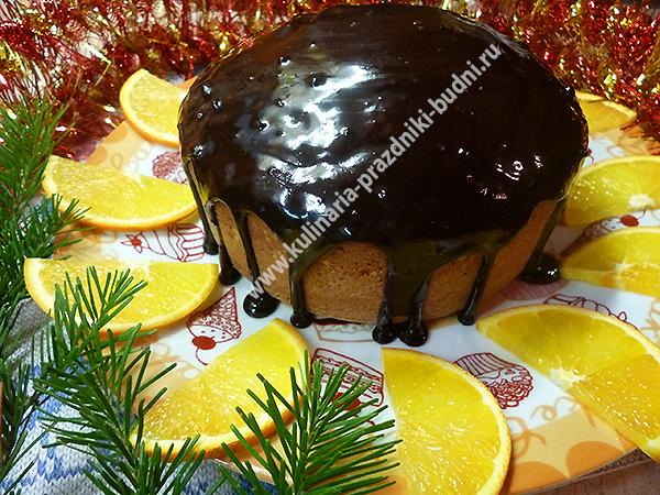 Апельсиновый кекс фото