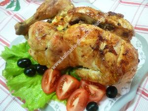 Курица с черносливом в духовке фото