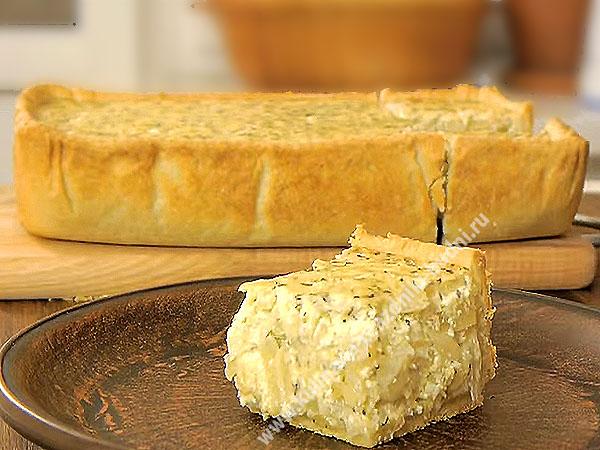Луковый пирог рецепт с фото пошагово