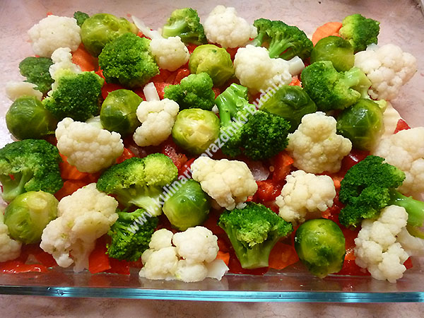рецепт овощи с фаршем в духовке с фото
