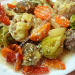 Овощи с фаршем в духовке