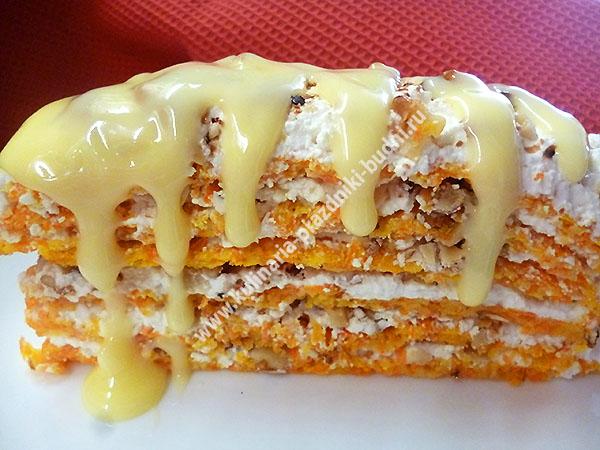 Морковный торт вкусный рецепт