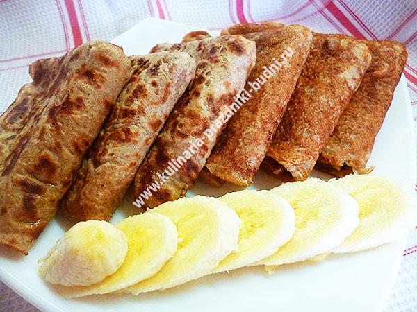 Банановые блины рецепт с фото