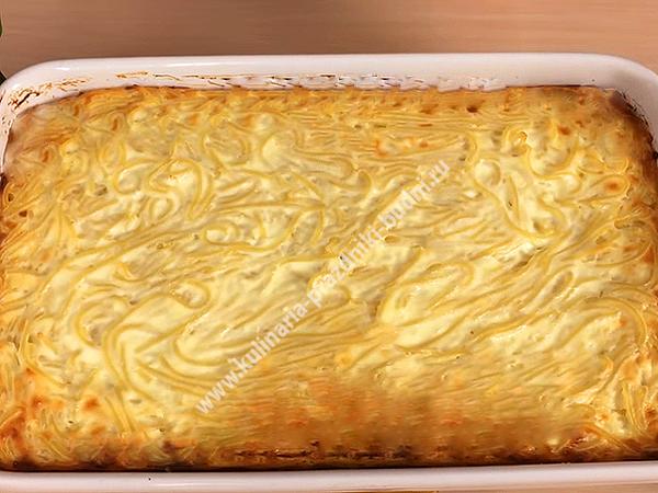 Запеканка творожная с макаронами рецепт в духовке