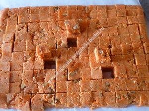 Морковный рахат-лукум