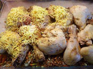 Курица запеченная с гречкой рецепт с фото