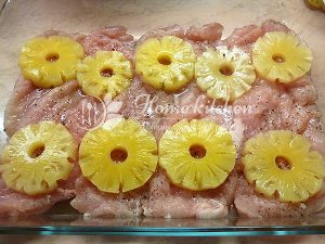 Куриные отбивные с ананасом фото