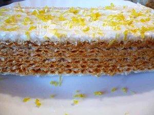 Торт из вафельных коржей со сгущенкой фото