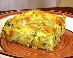 Пирог с кабачком и сыром в духовке