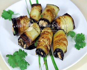 Рулетики из баклажан с орехом рецепт с фото
